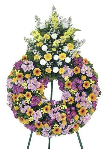 couronne fleur cimetière